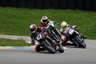 Cliquer pour agrandir la photo : Eric Geerdens & Laurent Renotte en pleine attaque en ERT (Endurance Racing Twin)