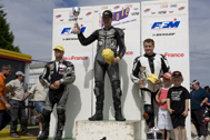 Cliquer pour agrandir la photo : Podium Supersport Race 1 (Juniors)